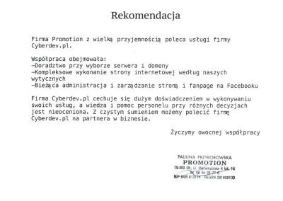 Rekomendacja Promotion